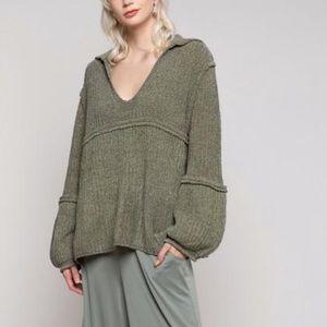 Pol urban chenille v-neck sweater
